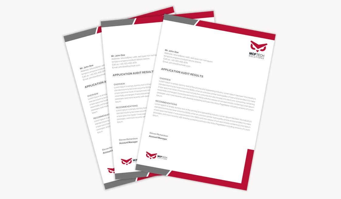 MCFTech Quickbase Solution Provider Letterhead sample